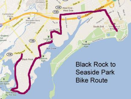 Bike Route Black Rock to Seaside Park
